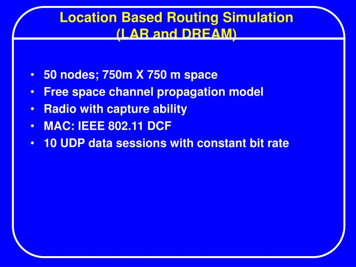 Location Based Routing Simulation