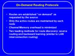 on demand routing protocols