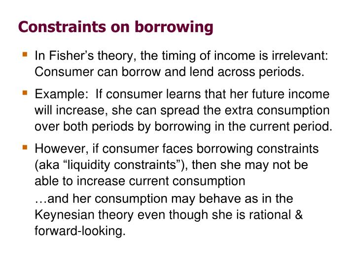 Constraints on borrowing