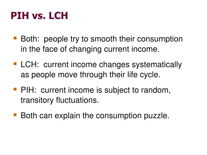 PIH vs. LCH