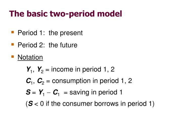 The basic two-period model