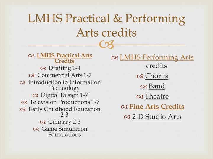 LMHS Practical & Performing