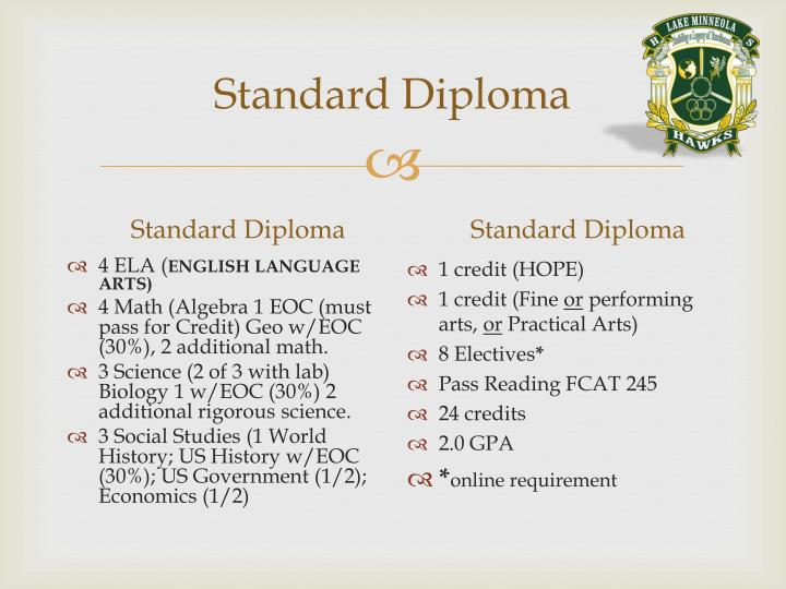 Standard Diploma