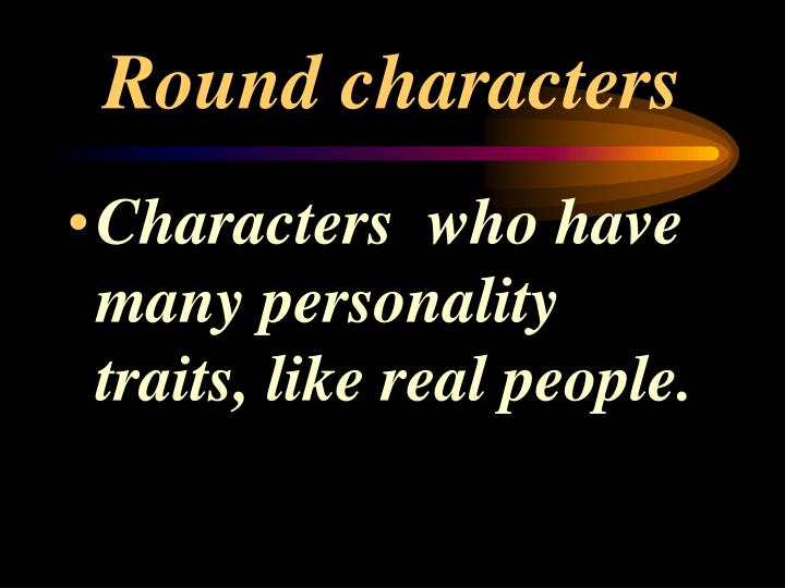 Round characters