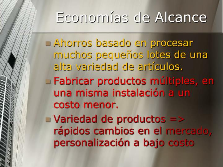 Economías de Alcance