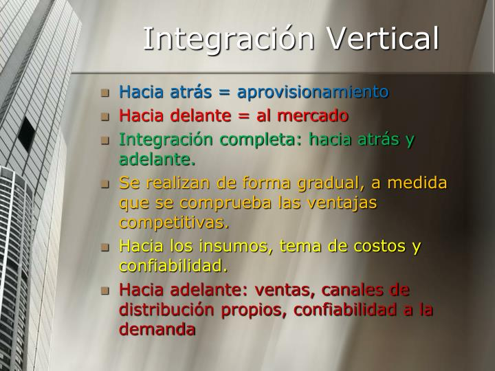 Integración Vertical