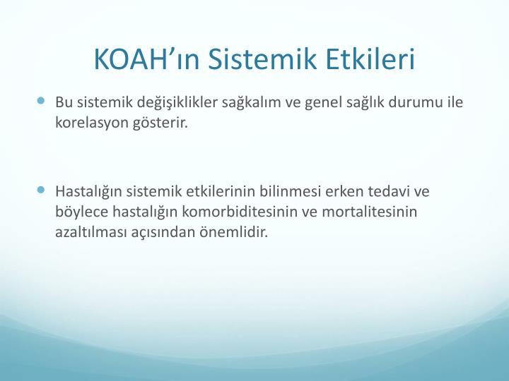 KOAH'ın Sistemik Etkileri
