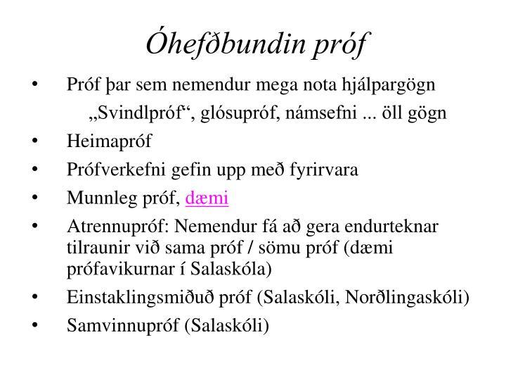 Óhefðbundin próf
