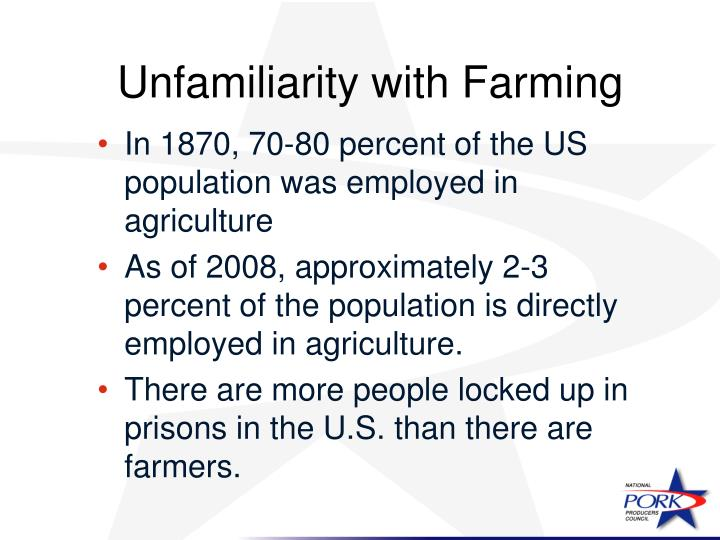 Unfamiliarity with Farming