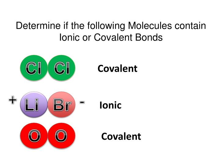 Determine if the following Molecules contain