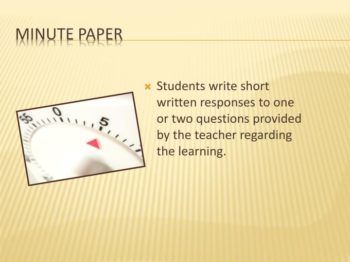 Minute Paper
