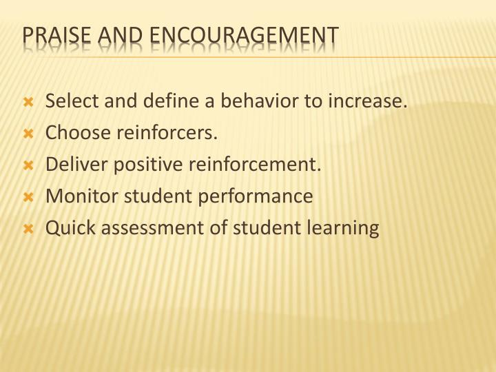 Select and define a behavior to increase.