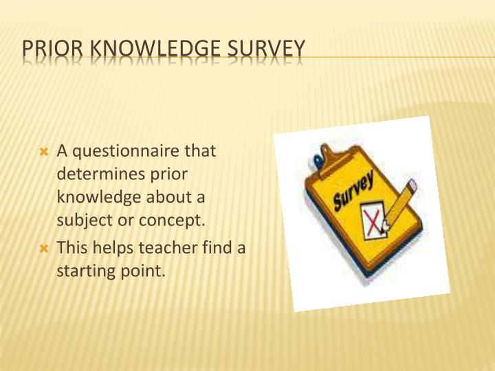 Prior Knowledge Survey