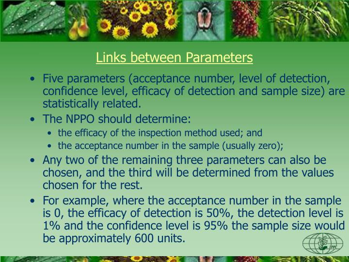 Links between Parameters