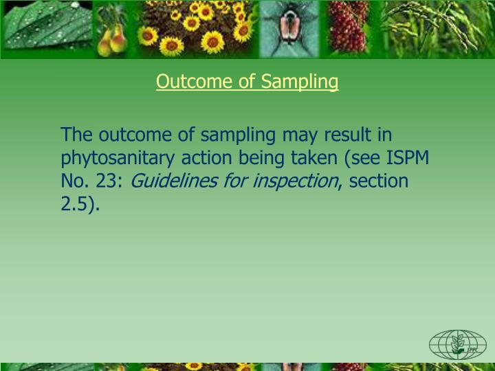 Outcome of Sampling