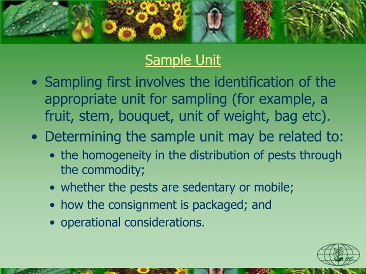 Sample Unit