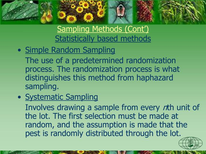 Sampling Methods (Cont')