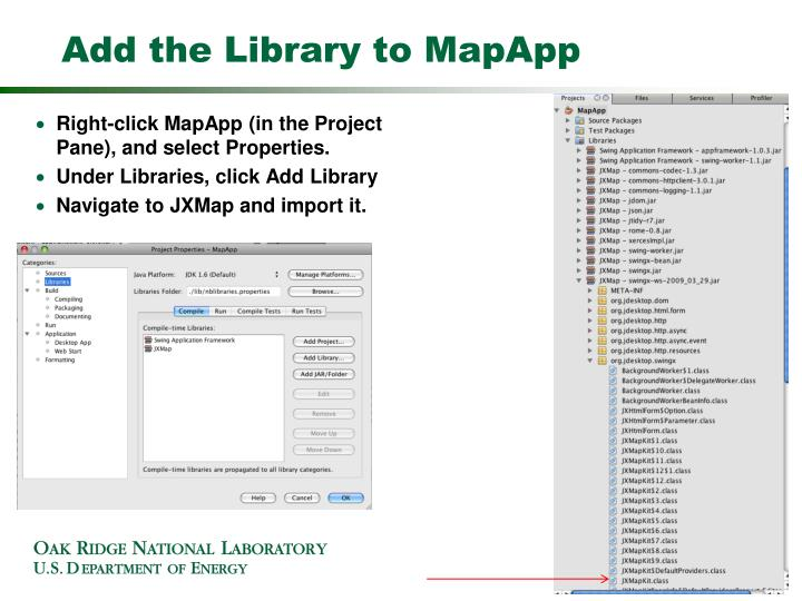 Add the Library to MapApp
