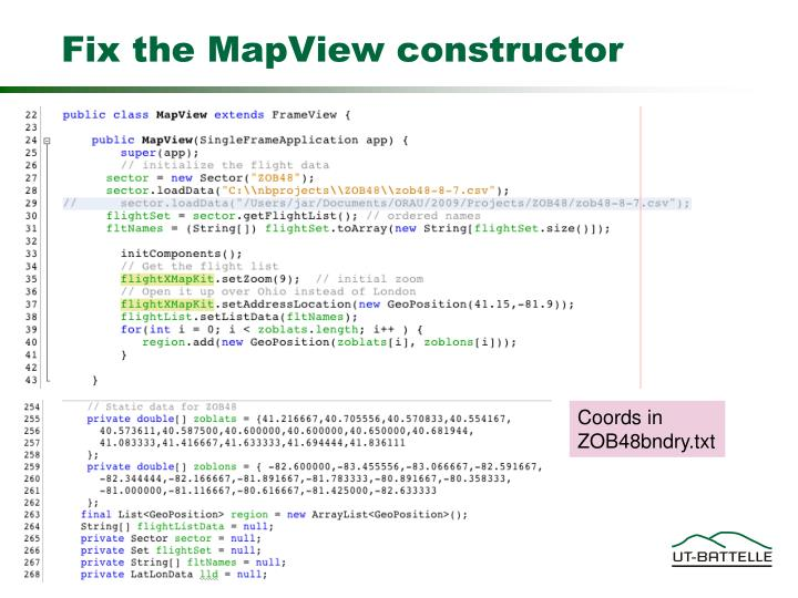 Fix the MapView constructor