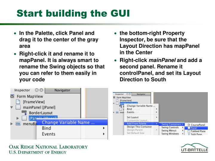 Start building the GUI