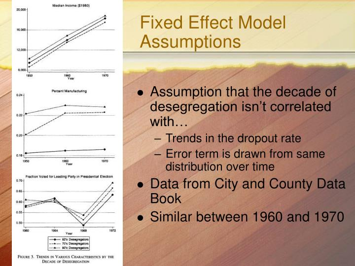 Fixed Effect Model Assumptions