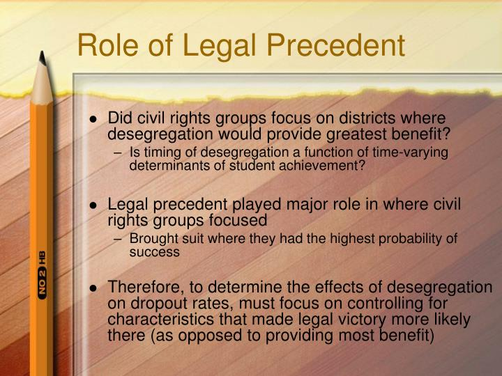 Role of Legal Precedent