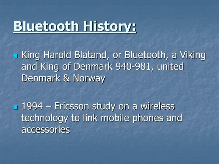 Bluetooth History:
