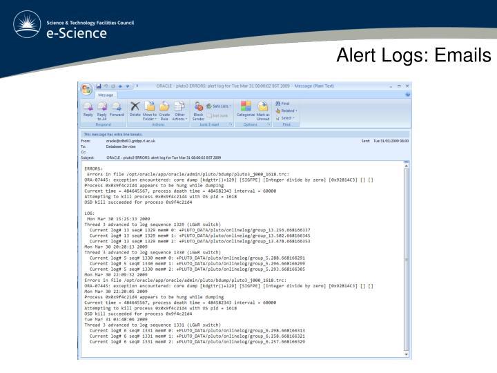 Alert Logs: Emails