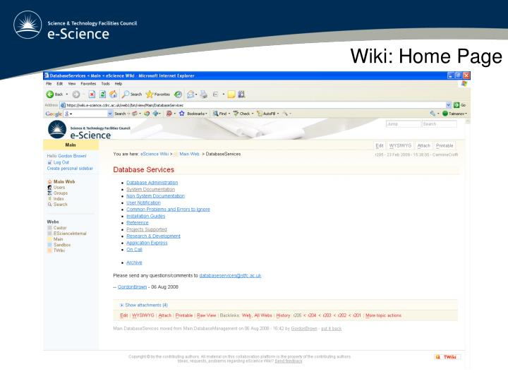 Wiki: Home Page