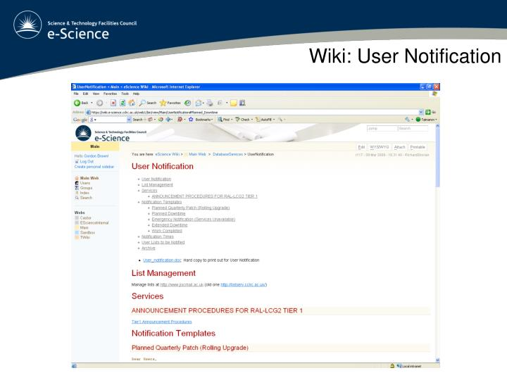 Wiki: User Notification
