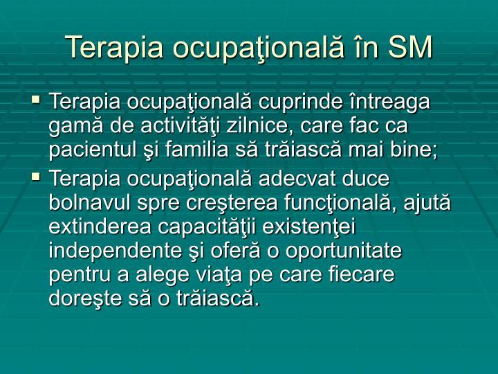 Terapia ocupaţională în SM
