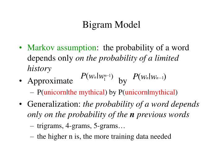 Bigram Model