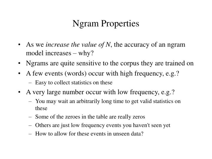 Ngram Properties
