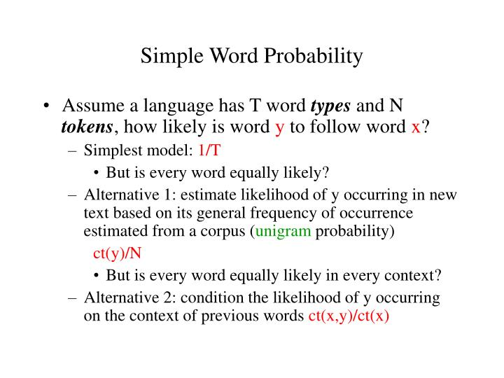 Simple Word Probability
