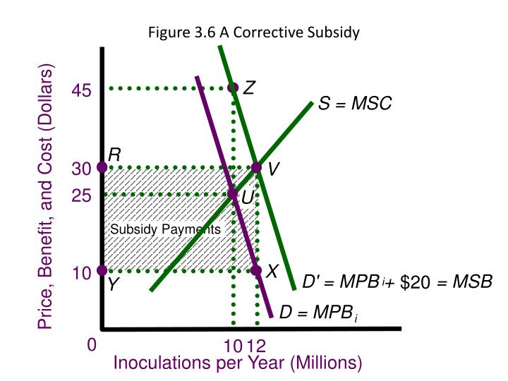 Figure 3.6 A Corrective Subsidy