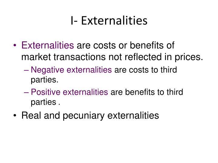 I- Externalities