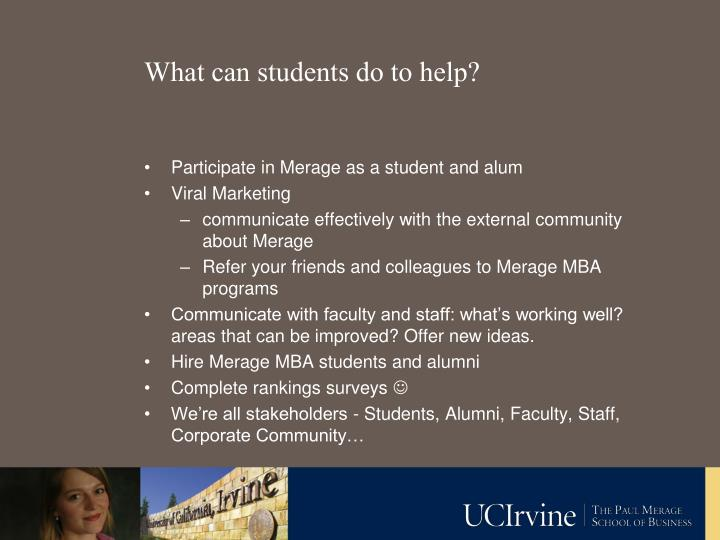 What can students do to help?