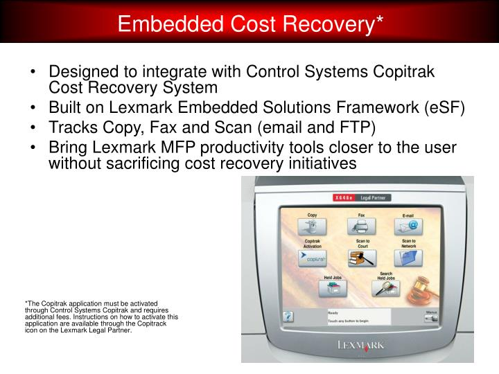 Embedded Cost Recovery*