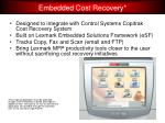 embedded cost recovery