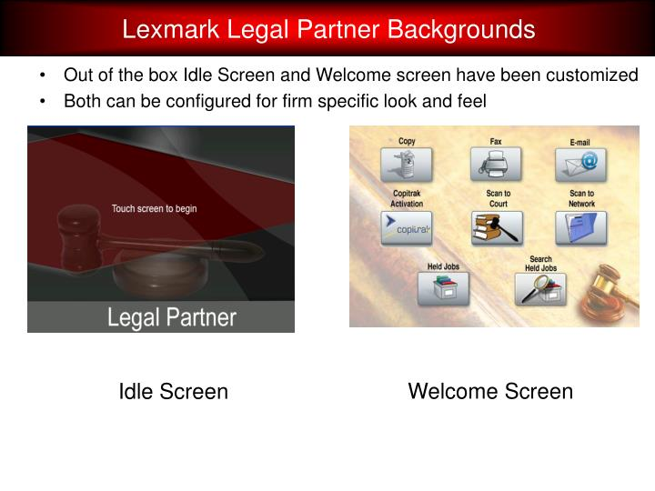 Lexmark Legal Partner Backgrounds