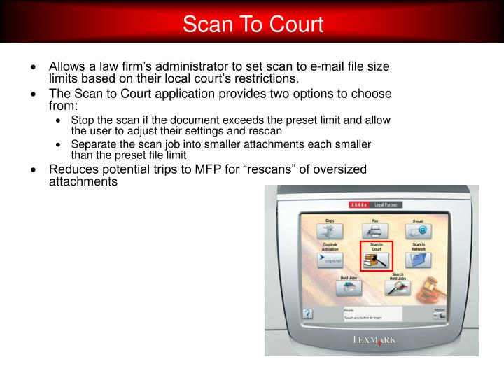 Scan To Court