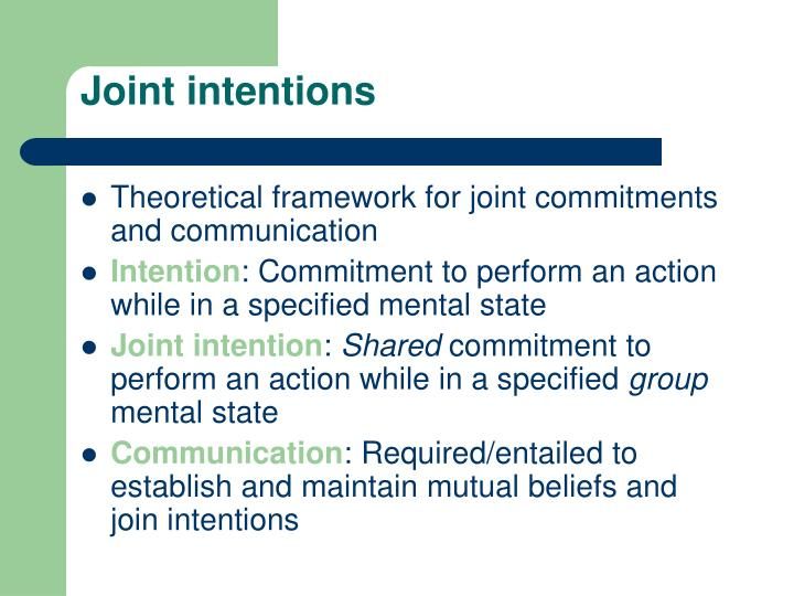 Joint intentions