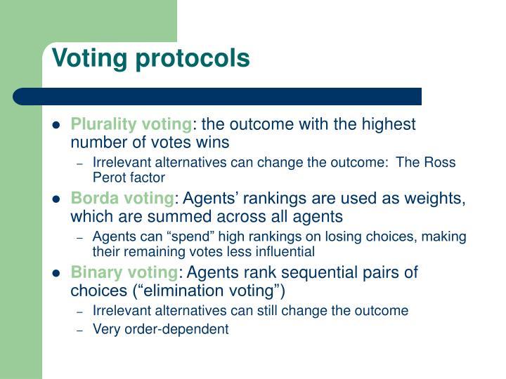 Voting protocols