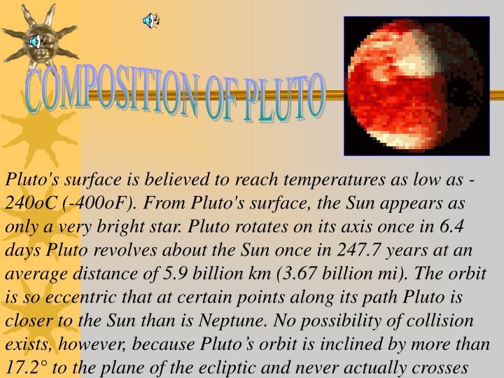 COMPOSITION OF PLUTO