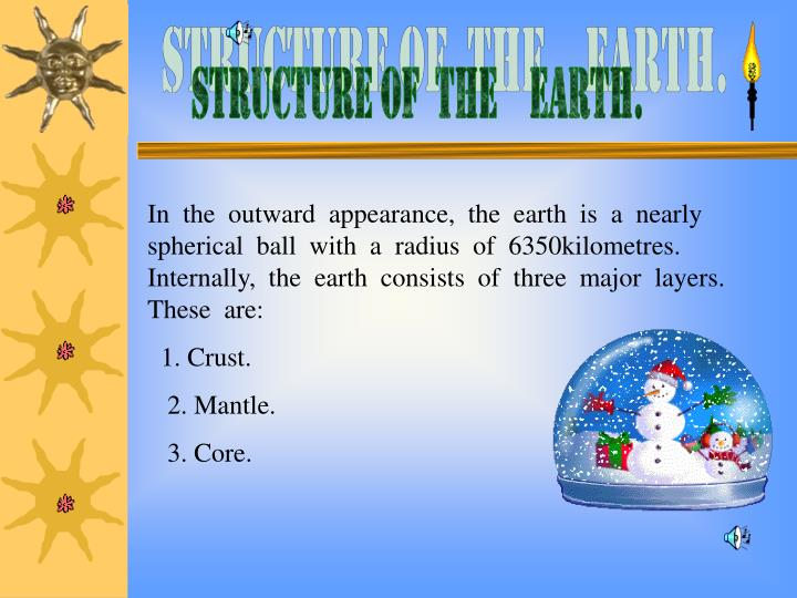 STRUCTURE OF  THE    EARTH.