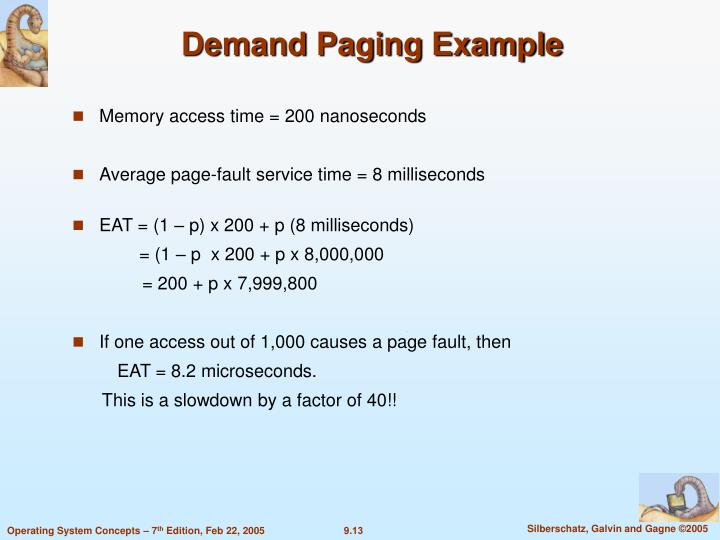 Demand Paging Example