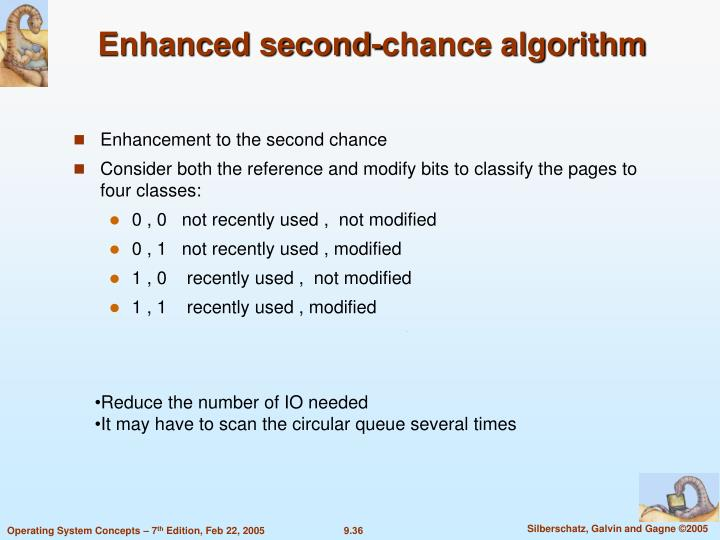 Enhanced second-chance algorithm