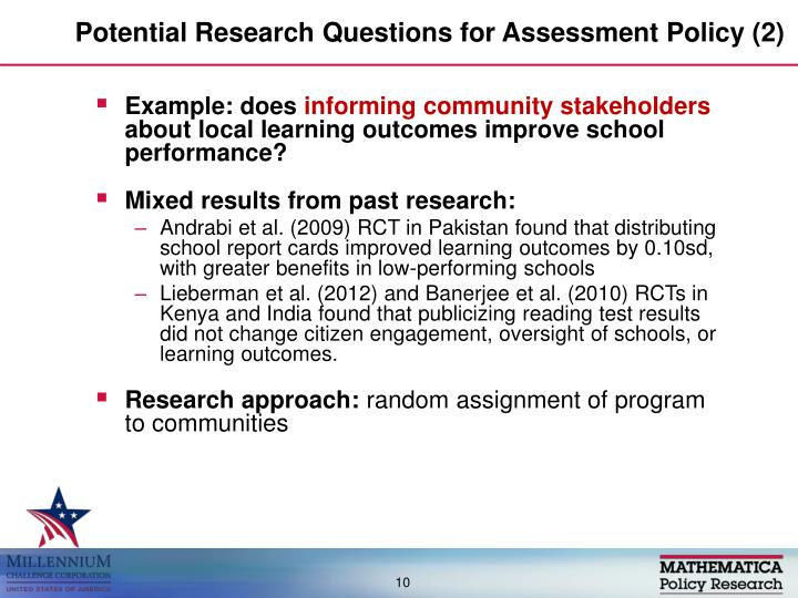 Potential Research Questions for Assessment Policy (2)