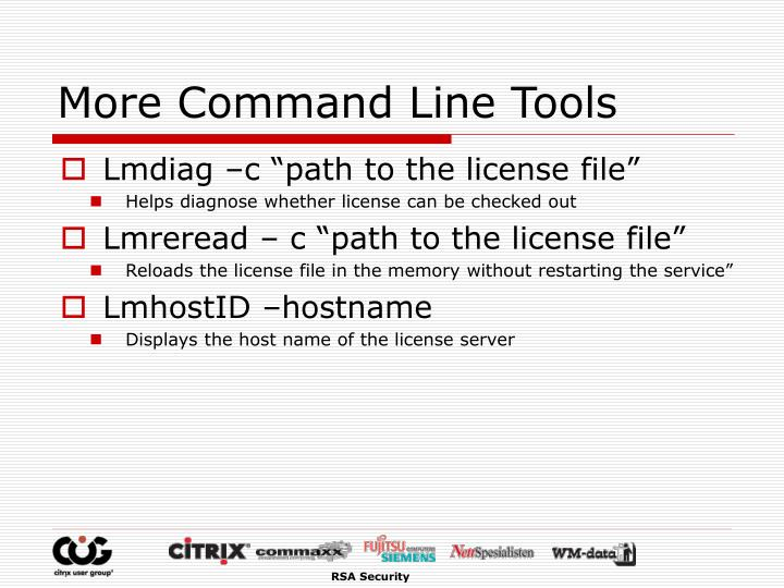 More Command Line Tools