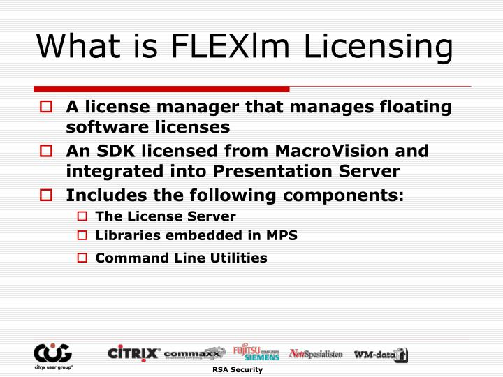 What is FLEXlm Licensing
